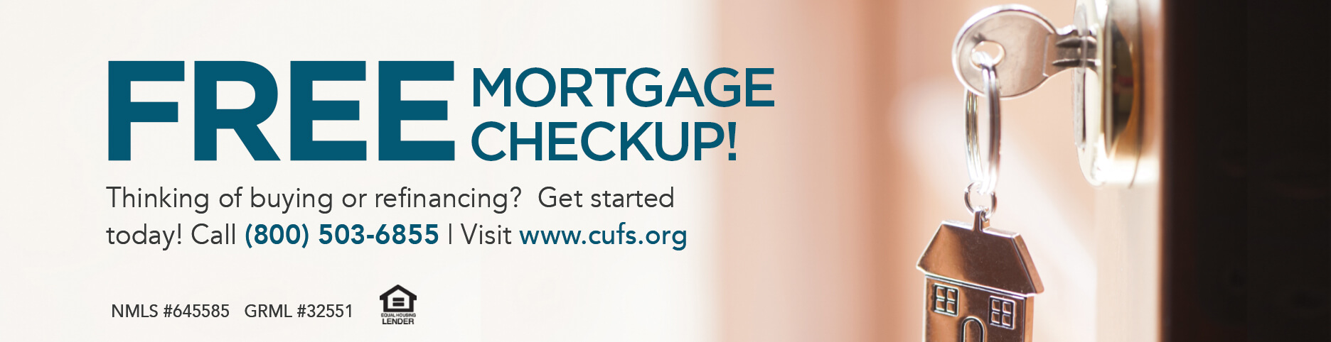 Free Mortgage Checkup Banner On The Grid Financial